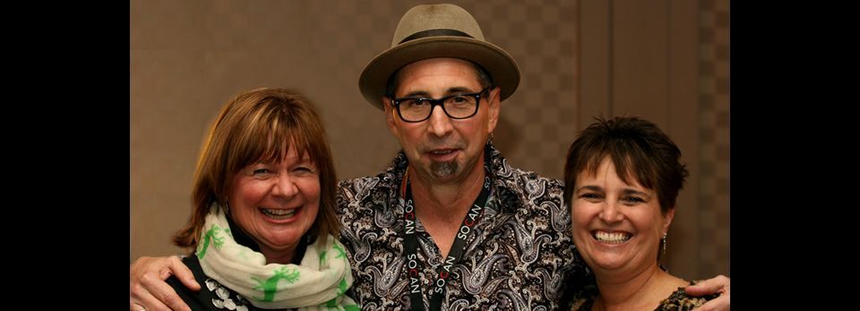 2013 FMO Conference - Shelagh Rogers, Mike and Jane Stevens.  Photo by James Dean.