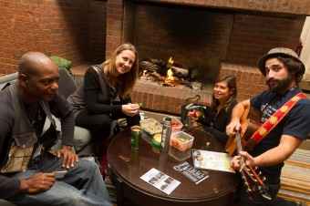 2012 OCFF Conference - Noshing and jamming in the lobby